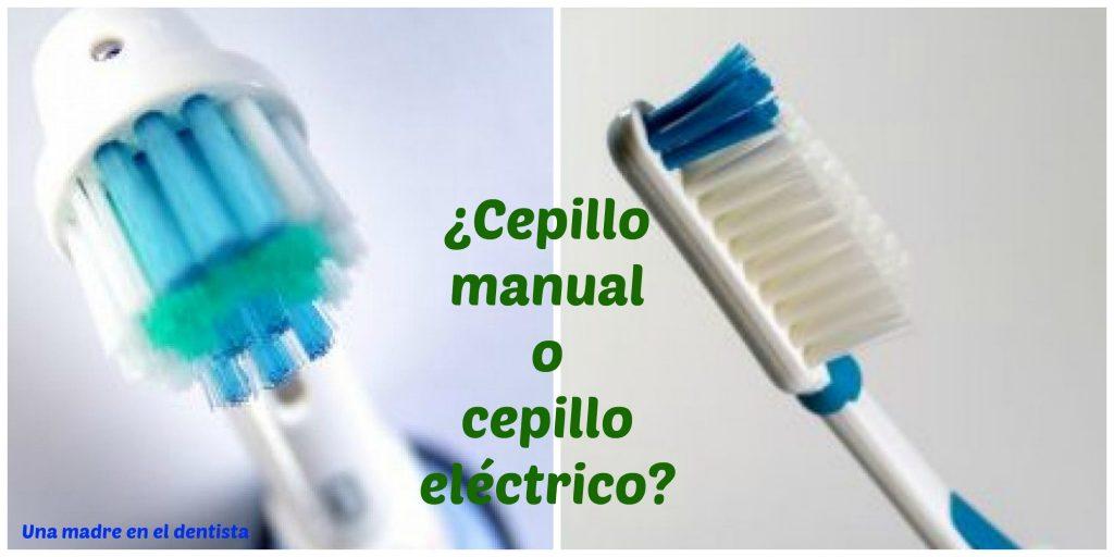 Cepillo eléctrico o cepillo manual