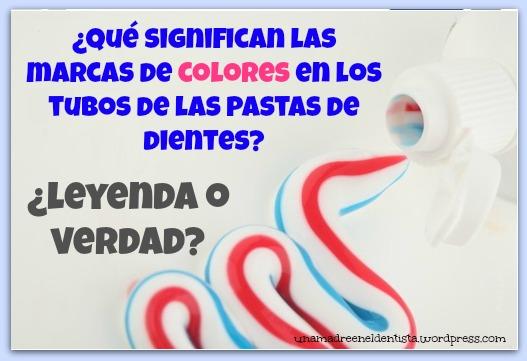¿Qué significan las marcas de colores en los tubos de la pasta de dientes?
