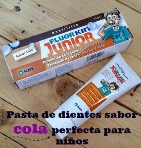 Pasta de dientes sabor cola de Fluor Kin Junior