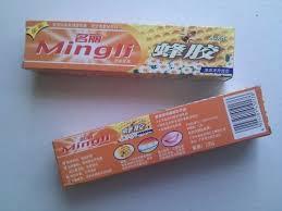pastas de dientes sabor miel